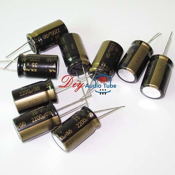 High Fidelity 2200UF 35V Capacitor , Elna Capacitors For Audio Ripple Current 55mA