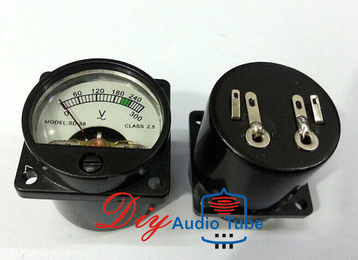 Black Color Tube AMP Parts SO-39 39mm 300ACV VU Panel Meter For Tube Amplifiers